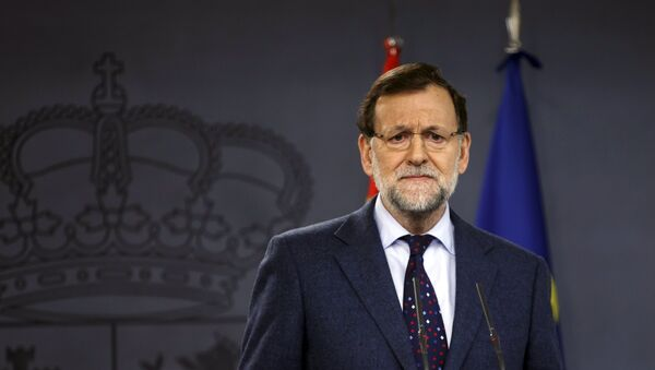 Spanish Prime Minister Mariano Rajoy attend a joint news conference with European Council President Donald Tusk (not pictured) at Moncloa palace in Madrid March 31, 2015 - Sputnik France