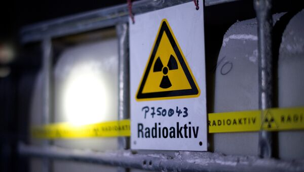 A tank containing radioactive water is seen at the Asse nuclear waste storage facility on March 4, 2014 in Remlingen, central Germany - Sputnik France