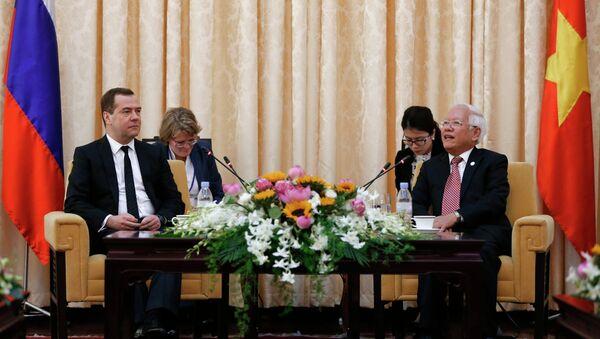 Russian Prime Minister Dmitry Medvedev pays official visit to Vietnam. Day Two - Sputnik France