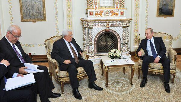 Президент РФ В.Путин встретился с президентом Палестины М. Аббасом - Sputnik France