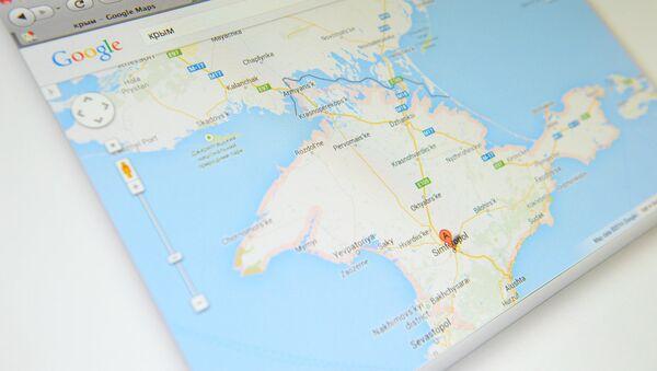 Крым на карте Google Maps - Sputnik France