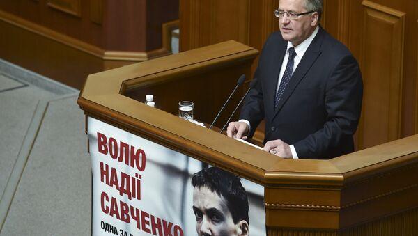Polens Präsident Bronislaw Komorowski im Parlament Kiews - Sputnik France