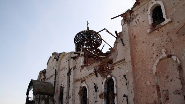 Храмы в Донецке, разрушенные в ходе боевых действий - Sputnik France
