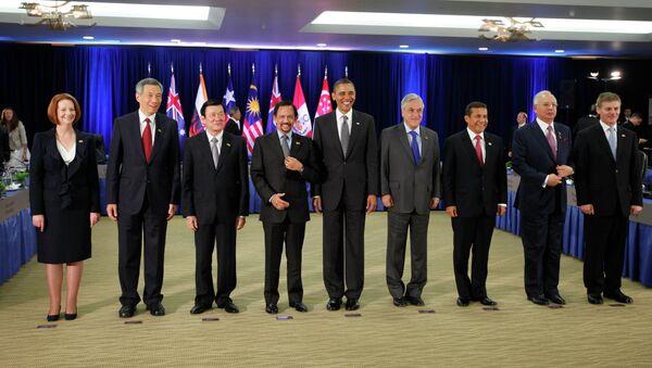 President Barack Obama meets with Trans-Pacific Partnership leaders during the APEC summit in Honolulu, Hawaii, Saturday, Nov. 12, 2011 - Sputnik France