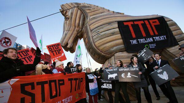 Anti-TTIP demonstration - Sputnik France