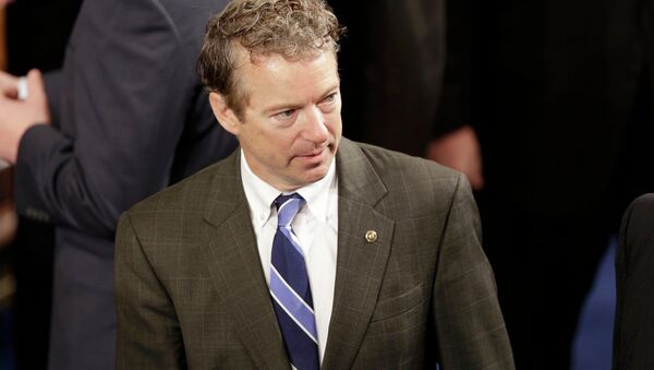 U.S. Sen. Rand Paul (R-KY) arrives in the House Chamber prior to Israeli Prime Minister Benjamin Netanyahu's address to a joint meeting of Congress in the House Chamber on Capitol Hill in Washington, March 3, 2015 - Sputnik France