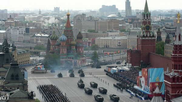 A full dress rehearsal of the V-Day Parade on Red Square, Moscow - Sputnik France