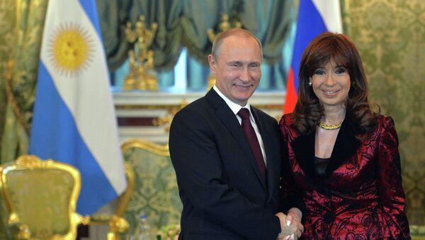 Встреча президента РФ В.Путина с президентом Аргентины К. Фернандес де Киршнер - Sputnik France
