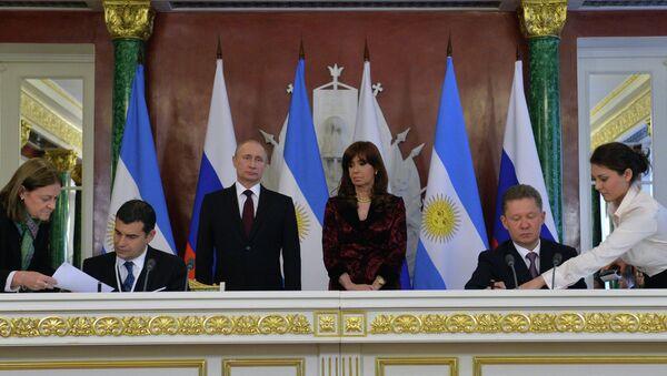 Встреча президента РФ В.Путина с президентом Аргентины К.Фернандес де Киршнер - Sputnik France