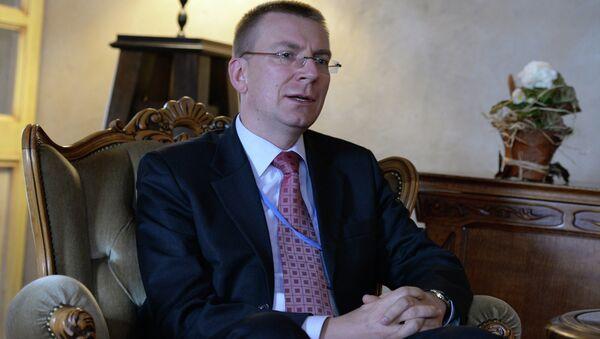 Latvian Foreign Minister Edgar Rinkevics - Sputnik France