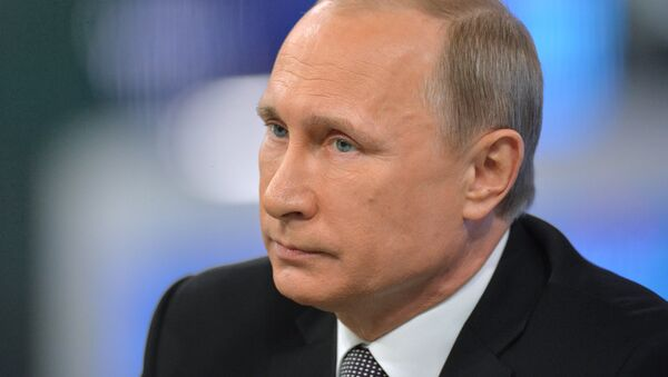 Прямая линия с президентом России Владимиром Путиным - Sputnik France