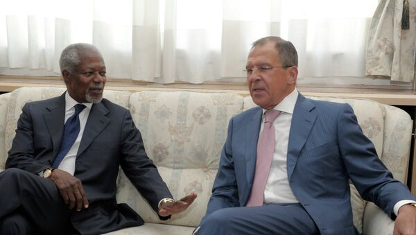 Russian Foreign Minister Sergei Lavrov and UN special envoy Kofi Annan - Sputnik France