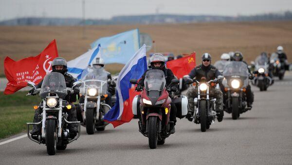 Des membres du moto-club russe Loups de la nuit - Sputnik France