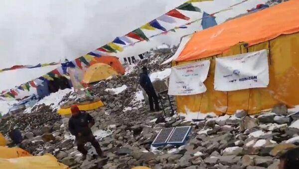 Séisme au Népal: une avalanche frappe les alpinistes - Sputnik France