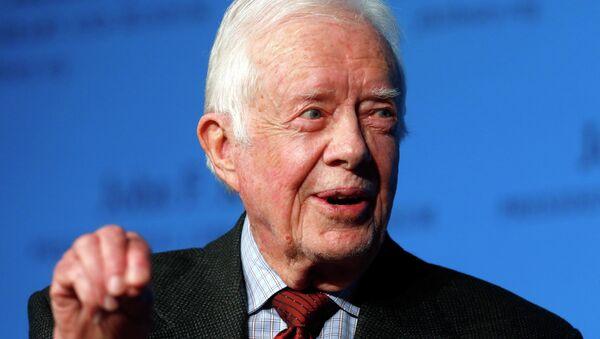 Former President Jimmy Carter speaks during a forum at the John F. Kennedy Presidential Library and Museum in Boston, Thursday, Nov. 20, 2014 - Sputnik France