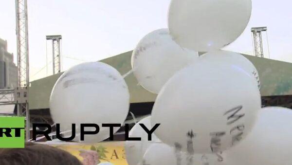 Russie: 500 ballons pour les femmes de la Grande guerre patriotique - Sputnik France