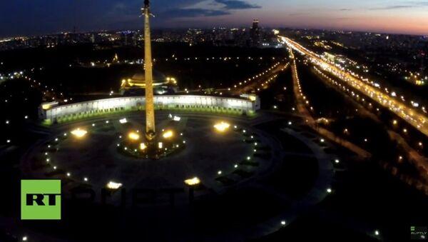 Moscou: les fontaines du Mont Pokolnnaïa filmées par un drone - Sputnik France