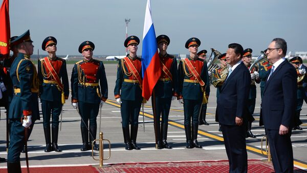 Прилет председателя КНР Си Цзиньпина в Москву - Sputnik France