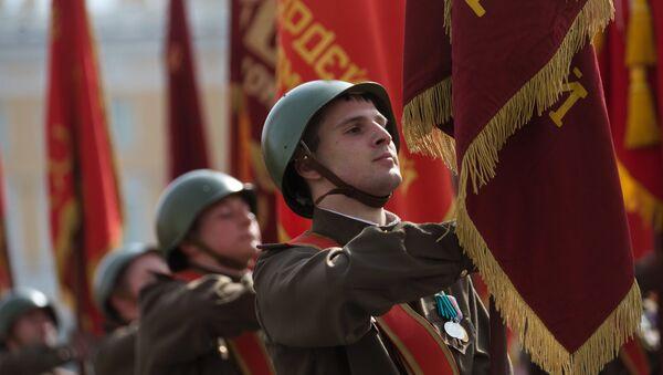 Генеральная репетиция военного парада в Санкт-Петербурге в ознаменование 70-летия Победы в Великой Отечественной войне 1941-1945 годов - Sputnik France