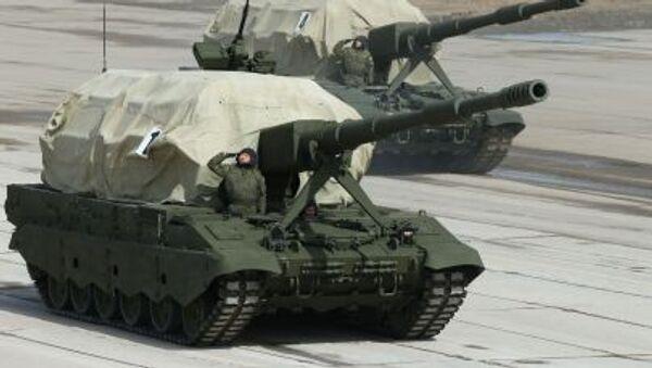 Самоходная артиллерийская установка Коалиция-СВ во время репетиции парада Победы в Московской области - Sputnik France
