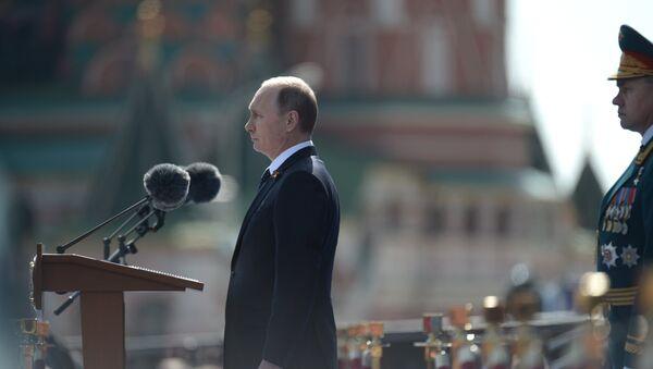 Президент РФ В.Путин на военном параде в честь 70-й годовщины Победы в ВОВ - Sputnik France