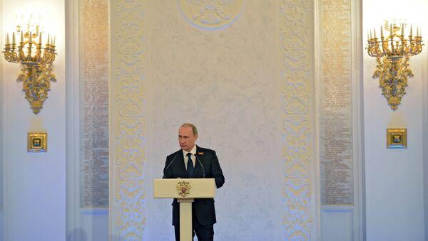 Торжественный прием от имени В.В.Путина по случаю празднования 70-летия Победы в Великой Отечественной войне 1941-1945 годов - Sputnik France