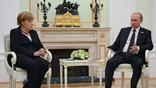 Президент России В.Путин встретился с канцлером Федеративной Республики Германия А.Меркель - Sputnik France