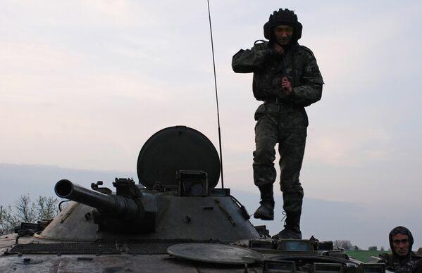 Ukraine: exercices du bataillon motorisé Vikings des insurgés  de Donetsk - Sputnik France