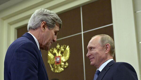 Встреча президента России В.Путина с госсекретарем США Д.Керри - Sputnik France