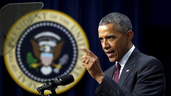 U.S. President Barack Obama speaks at an event recognizing emerging global entrepreneurs at the White House in Washington May 11, 2015. - Sputnik France
