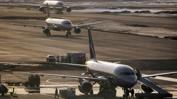 Airbus-319, Airbus-320 and Boeing-767 at Sheremetyevo airport - Sputnik France