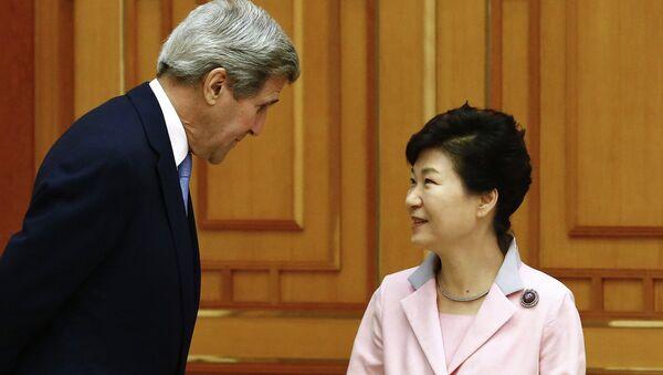 John Kerry et Park Geun-hye - Sputnik France