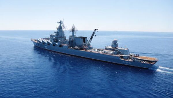 Le croiseur lance-missiles Moskva - Sputnik France