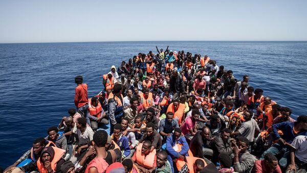 Migrants au large de la Libye, archives - Sputnik France