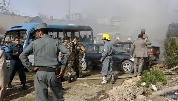 Afghan security forces investigate the site of a bomb blast in Kabul, May 19, 2015 - Sputnik France