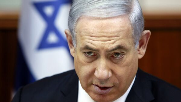 Israeli Prime Minister Benjamin Netanyahu chairs the weekly cabinet meeting at his Jerusalem office, Sunday, March 8, 2015. Tens of thousands of Israelis gathered Saturday night at a Tel Aviv square under the banner Israel wants change and called for Netanyahu to be replaced in March 17 national elections. - Sputnik France