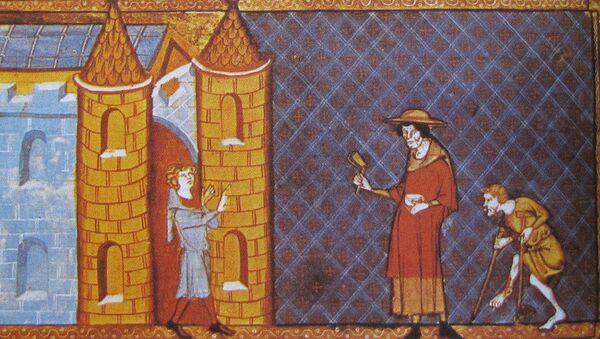 Deux lépreux demandant l'aumône, d'après un manuscrit de Vincent de Beauvais (XIIIe siècle). - Sputnik France