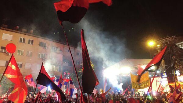 Protestations à Skopje - Sputnik France