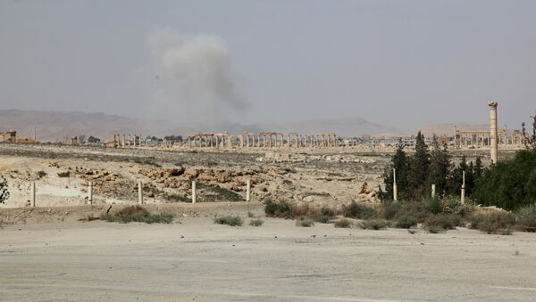 Fumée au-dessus de Palmyre - Sputnik France