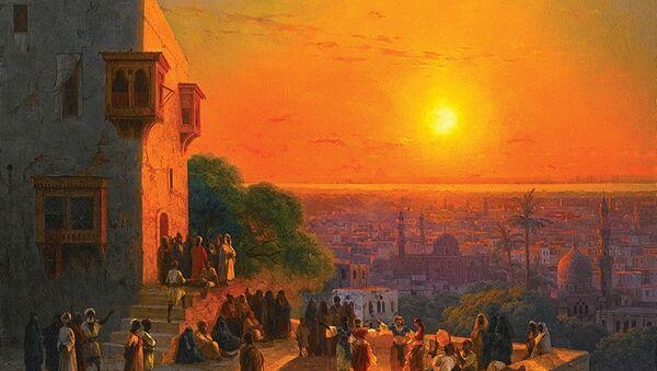 Le tableau du peintre russe Ivan Aïvazovski, Un Soir au Caire (1870) - Sputnik France