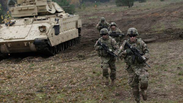 Солдаты США на учениях в Латвии - Sputnik France