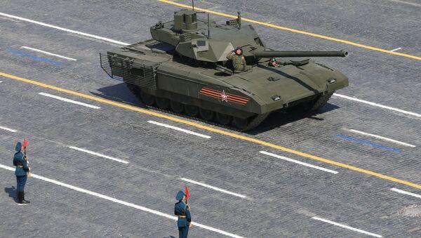 A T-14 tank with the Armata Universal Combat Platform - Sputnik France