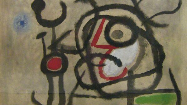 Joan Miró, Personnages et oiseau, 1962, Centre Pompidou - Sputnik France