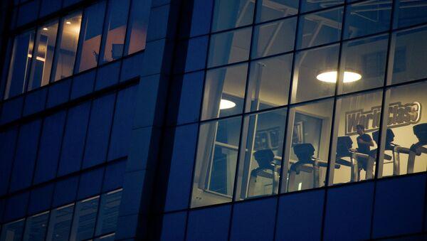 Фитнес-клуб World Class в одном из московских офисный зданий. - Sputnik France