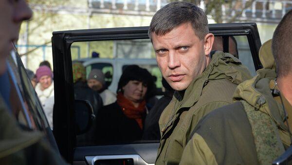 Премьер-министр Донецкой народной республики Александр Захарченко - Sputnik France