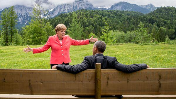 Obama et Merkel - Sputnik France