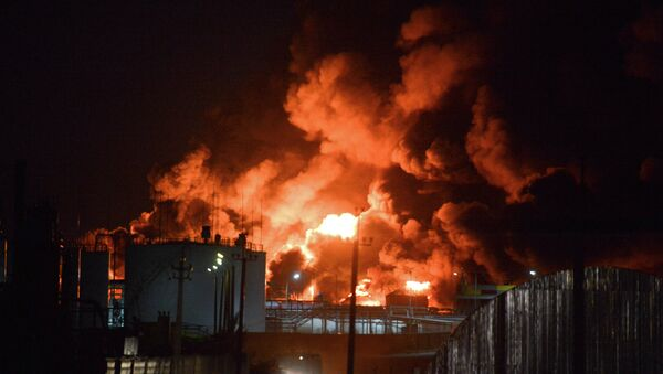 Fire on oil depot near Kiev - Sputnik France