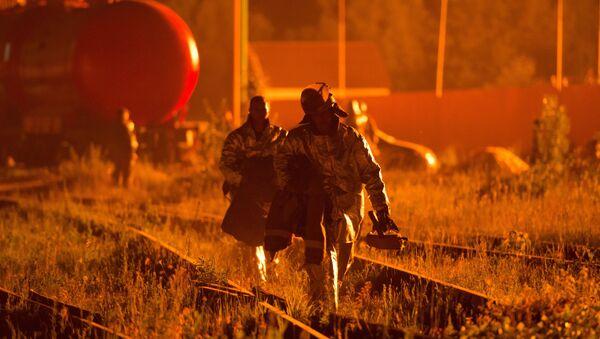 Incendie d'un dépôt pétrolier en Ukraine - Sputnik France