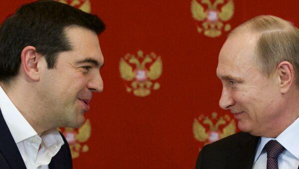 Alexis Tsipras et Vladimir Poutine - Sputnik France