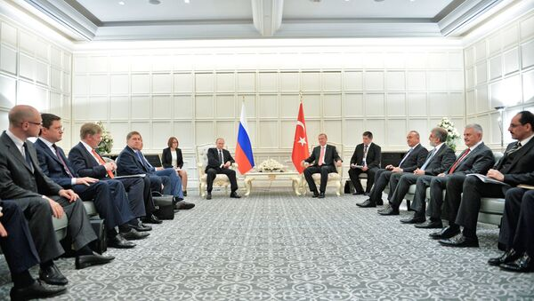 Рабочий визит президента РФ В.Путина в Азербайджан. День второй - Sputnik France